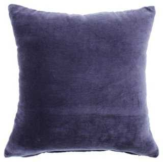 Solid Velvet Pillow - One Kings Lane