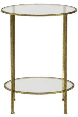 BELLA GLASS END TABLE - Home Decorators