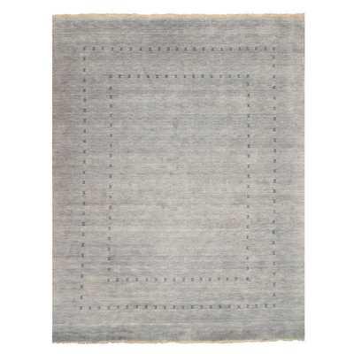 EORC Grey Handmade Wool Lori Baft Rug (10' x 14') - Overstock
