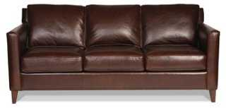 "Gramercy Park 80"" Leather Sofa - One Kings Lane"