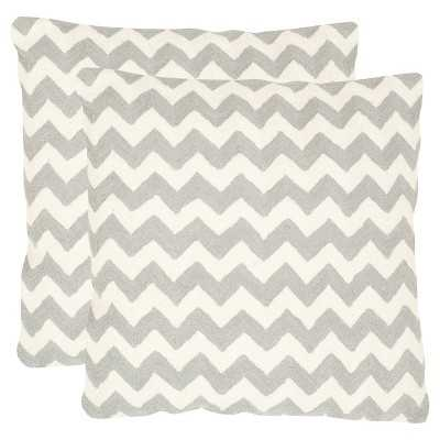 Safavieh 2 Pack Striped Tealea Pillow - Target