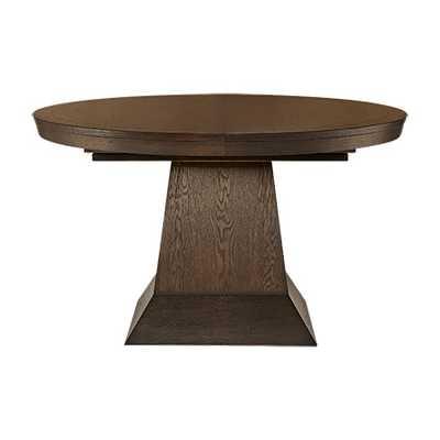"LEIGHTON 54"" ROUND DINING TABLE IN BURNISHED BROWN - Arhaus"