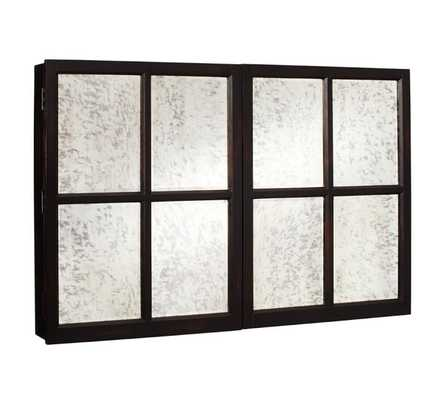 MIRROR WALL-MOUNT TV COVER, SMALL - Pottery Barn