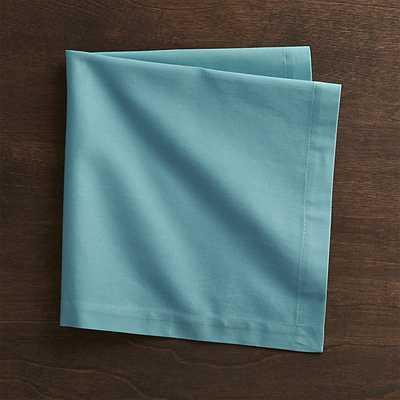 Fete Aqua Blue Cotton Napkin - Crate and Barrel