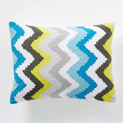 "Coyuchi Crewel Deco Pillow Cover - 12""w x 16""l - Insert sold separately - West Elm"