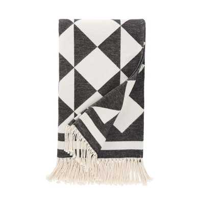 "HENRI INK THROW BLANKET - 50"" L x 70"" W - Dwell Studio"
