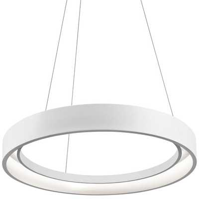 "Elan Fornello 23 1/2"" Wide Dimmable LED White Pendant Light - Lamps Plus"