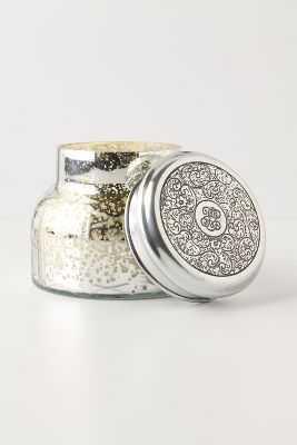 Capri Blue Mercury Glass Jar Candle - Anthropologie