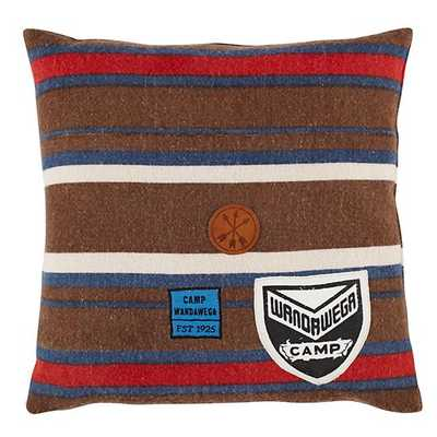 """Comfy Camp Pillow - 16""""Wx16""""H with insert - Land of Nod"""
