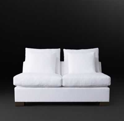 COLE FABRIC TWO-SEAT-CUSHION ARMLESS SOFA - RH Modern