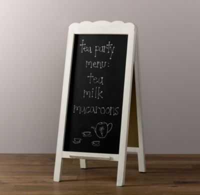 scalloped chalkboard easel - RH Baby & Child