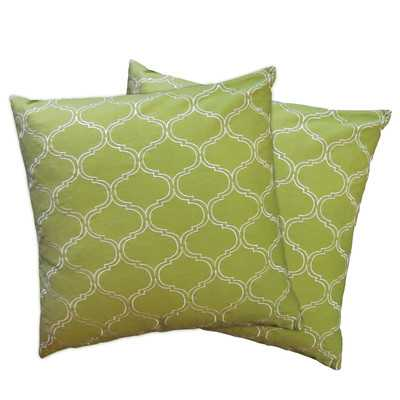 Trellis Throw Pillow Shells - Wayfair