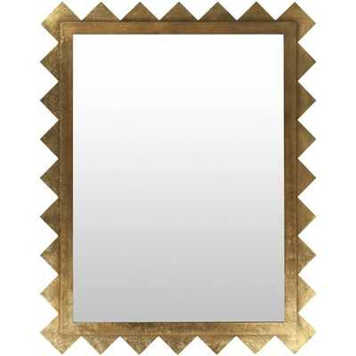 Geometric Gold Beveled Mirror - shadesoflight.com