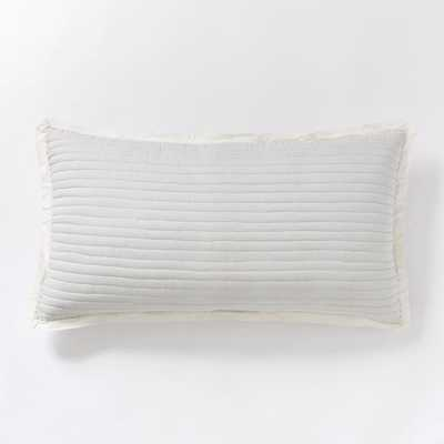 Mini Stripe King Sham, Frost Gray - West Elm
