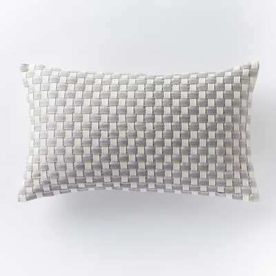 Woven Ribbon Pillow Cover - 12x21 - Insert Sold Separately - West Elm