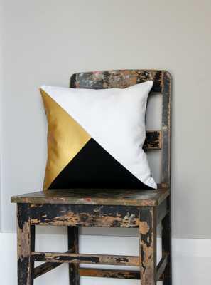 Gorgeous home decor Black and Metallic gold cushion - Etsy