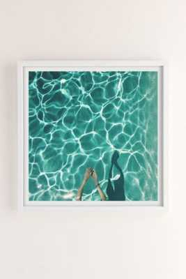 "Max Wanger Diver Art Print - 16""SQ - Framed - Urban Outfitters"