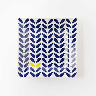 Collector's Editions Plates - Navy Botanical - West Elm