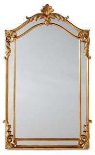 Nancy Oversize Mirror, Gold - One Kings Lane