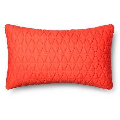 Jersey Lumbar Throw Pillow - orange - 12x20 - with insert - Target
