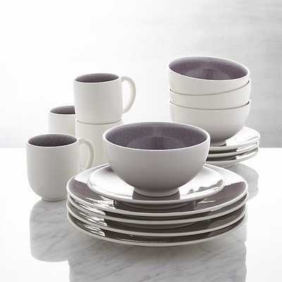 Jars Tourron Purple 16-Piece Dinnerware Set - Crate and Barrel