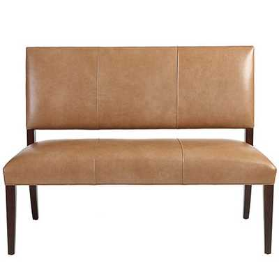 Hayward Leather Settee - Ballard Designs