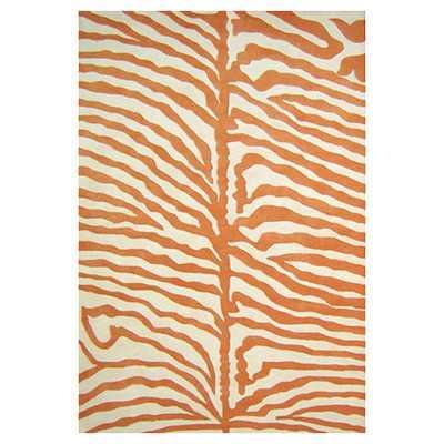 Cryss Zebra Print Orange & Cream Area Rug - Wayfair
