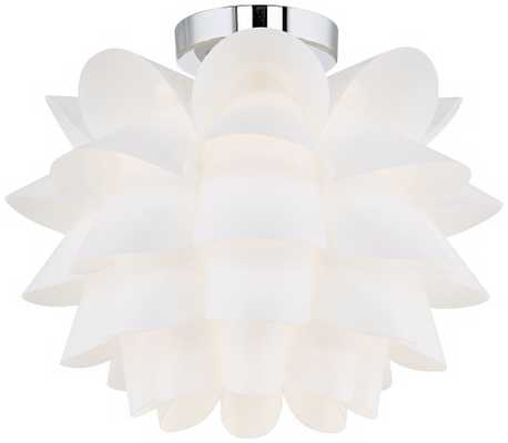 Possini Euro Design White Flower Ceiling Light - Lamps Plus