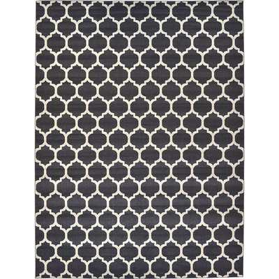 Trellis Black Area Rug - Wayfair