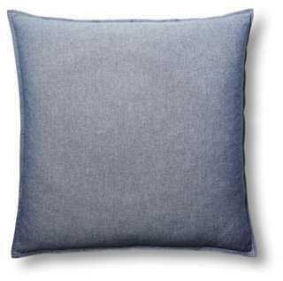 Chambray 22x22 Pillow - One Kings Lane