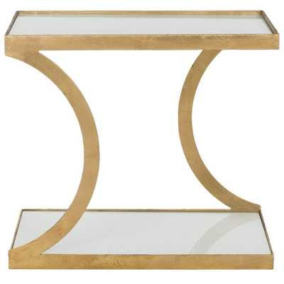 Safavieh Treasures Sullivan Gold/ White Top Accent Table - Overstock