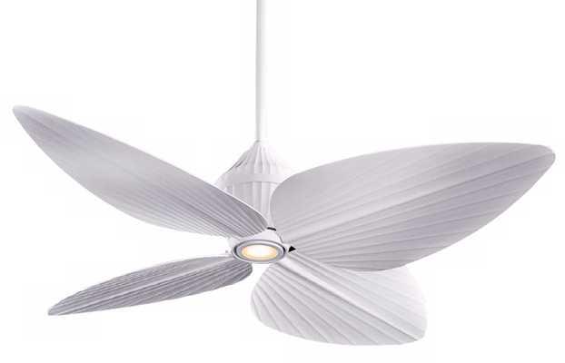 "52"" Minka Aire Gauguinâ""¢ Flat White Outdoor Ceiling Fan - Lamps Plus"