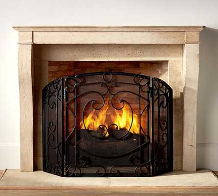 ASPEN FIREPLACE TRIPLE SCREEN - Pottery Barn