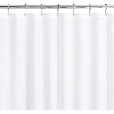 White Shower Curtain-Liner - Crate and Barrel