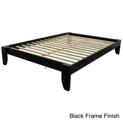 Scandinavia Queen-size Solid Bamboo Wood Platform Bed - Overstock