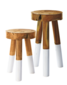 Dip-Dyed Stools - Domino