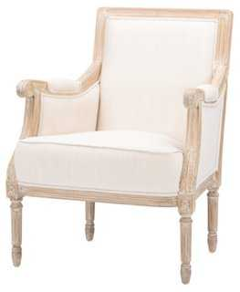 Gustave Accent Chair, Cream - One Kings Lane