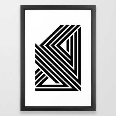 """Starlines 01.- 15""""x21"""" -Framed - Society6"""