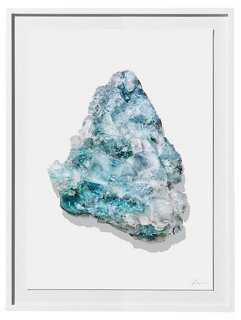 "Timothy Hogan, Aqua Geode- 18""L x 24""W x 1.25""D- Framed - One Kings Lane"