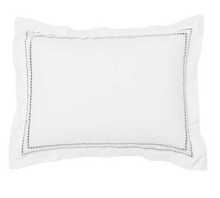 Pearl Embroidered Standard Sham - Gray Mist - Pottery Barn