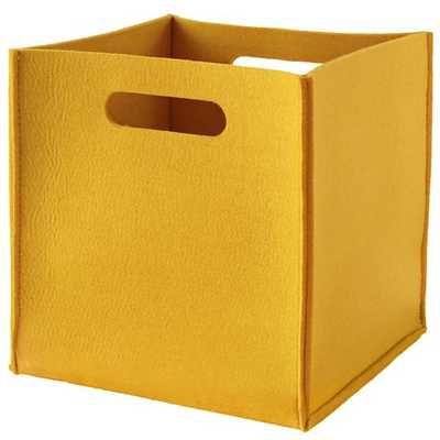 Yellow Once More with Felting Cube Bin - Land of Nod
