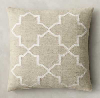 MOROCCAN TILE FLATWEAVE PILLOW COVER - SQUARE - RH