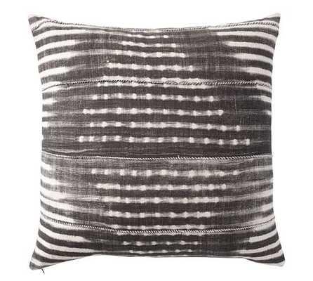 "Diamond Shibori Print Pillow Cover- 24"" sq- Gray - Pottery Barn"