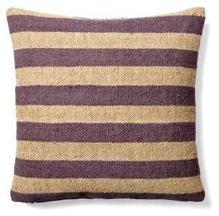 Stripe Wool-Blend Pillow - One Kings Lane