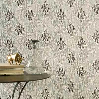 Hand-Blocked Maze Wallpaper - West Elm