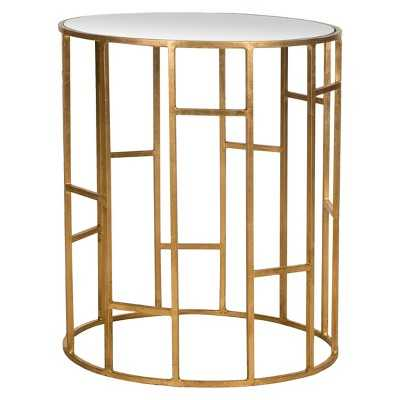 Safavieh Doreen End Table - Gold/mirror - Target