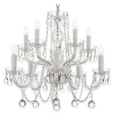 Gallery 10-Light 40mm Faceted Crystal Balls Chandelier - Bed Bath & Beyond