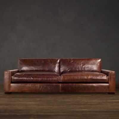 MAXWELL LEATHER SLEEPER SOFA - 7' - Burnham Leather, Cognac - RH
