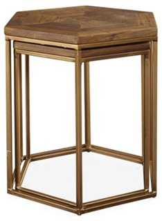 Pacific Nesting Tables, Natural/Gold - One Kings Lane