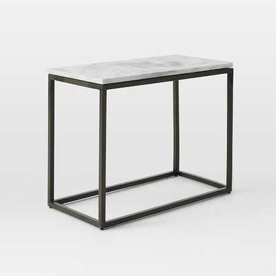 Box Frame Narrow Side Table - West Elm